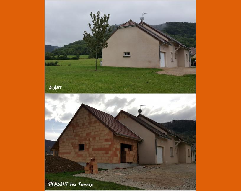 Extension d'habitation pendant travaux