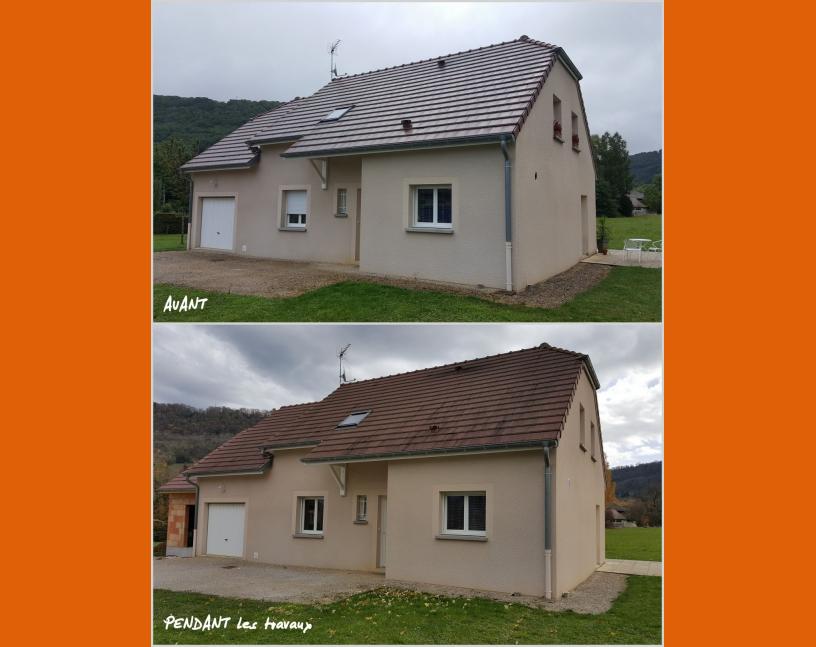 Extension de maison avant / pendant les travaux