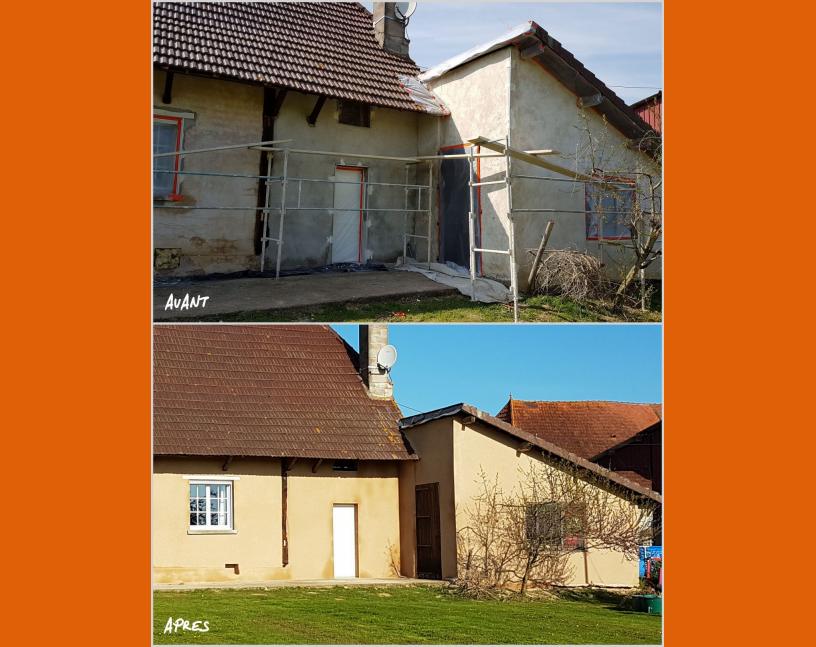 Rénovation de façade maison