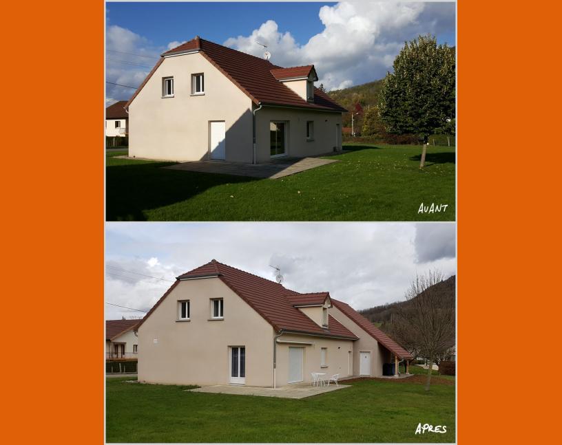 Extension de maison avant / après les travaux