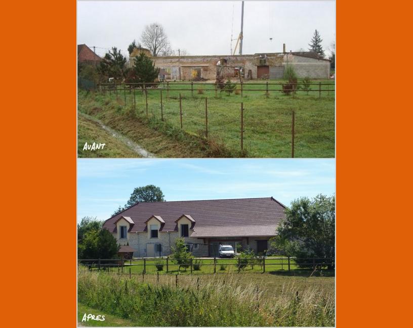 Rénovation de ferme avant / après